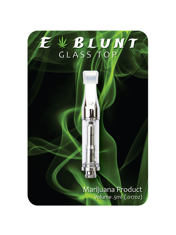 E-Blunt Chrome Glass Top