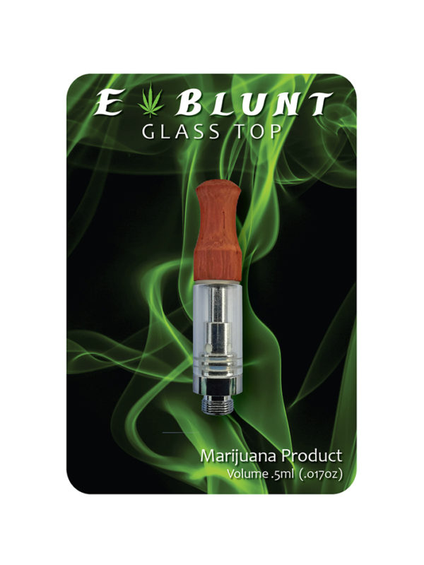 E-Blunt Wood Glass Top